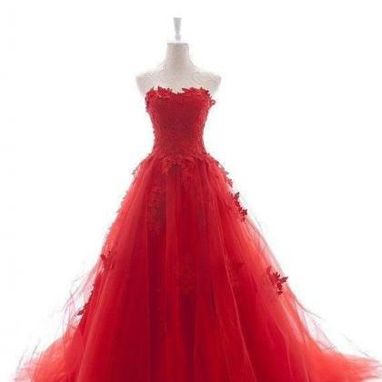 Red Wedding Dresses,A-Line Long Prom Dresses,Wedding Dresses 2015,Plus Size Wedding Dress,Evening Dresses 2015