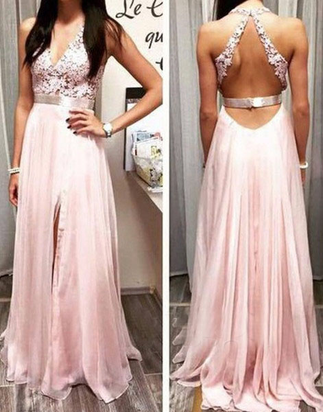 Lace Prom Dresses, Backless Prom Dress, Unique Prom Dresses, Sexy ...